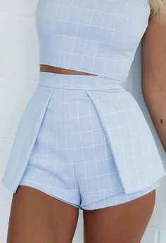 #summer #mishkahboutique #outfits | Check Two Piece Set