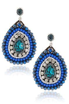 VANITY HER Intensity Blue Beaded Earrings