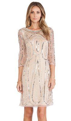 Raga Long Sleeve Sequin Dress in Gold   REVOLVE