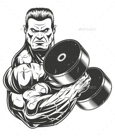 Buy Bodybuilder with Dumbbell by on GraphicRiver. Vector graphics Install any size without loss of quality. ZIP archive contains: 1 -file 1 -file PNG; Aztecas Art, Bodybuilding Pictures, Eagle Drawing, Signo Libra, Gym Interior, Gym Tops, Graffiti Lettering, Do Exercise, Image Hd