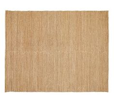 PB Heathered Chenille Jute Rug - Natural 10x14 $699 Supple jute is woven by hand with thick, lustrous rayon chenille, creating a silky rug that's as soft as it is durable. Crafted with sustainably harvested jute, a fast-growing, renewable natural fiber. Hand made of yarn-dyed chenille and natural jute by artisan rug makers.