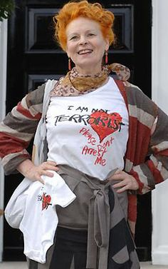 Vivienne Westwood the creator of punk rock fashion! This is who I long to be.......