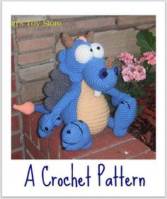 Snuggles the Dragon A Crochet Pattern by Erin Scull by ErinsToyStore, $3.95 USD