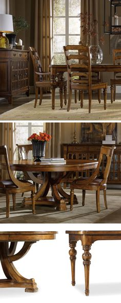 """Named for the Tynecastle area of Northern England, the Tynecastle collection is inspired by the manor homes and equestrian life of the English countryside. Crafted from hardwood solids and figured Alder veneers, the collection combines classic Georgian architectural details with more rustic timber frame elements and leather accents, creating a """"manor home to tack room"""" Hunt Country flavor."""