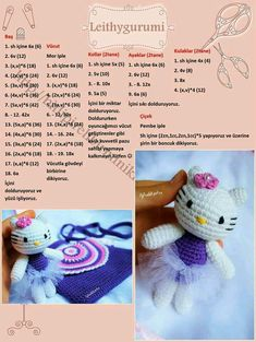 Discover thousands of images about Amigurumi Crochet Patterns Amigurumi, Amigurumi Doll, Crochet Dolls, Crochet Baby, Free Crochet, Hello Kitty Crochet, Crochet Slippers, Crochet Animals, Stuffed Toys Patterns