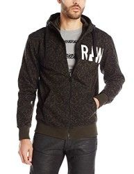 G-Star Raw Men's Micro Forest Hooded Vest In Sherland Sweat Asfalt Allover