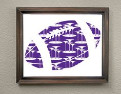 This colorful Texas Christian University Football Print is an original pattern…