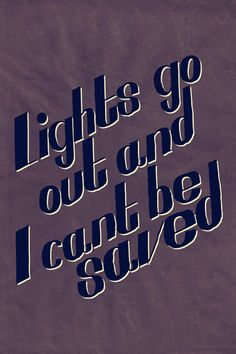 """Lights go out and I can't be saved"" Coldplay - Clocks tshirt"