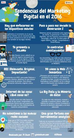 Tendencias sobre Marketing Digital para 2016... #AprendamosDeMarketing #SocialMediaOP #MarketingDigital