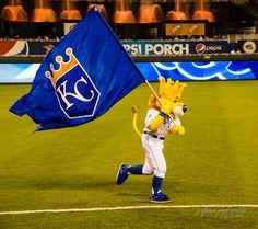 KC mascot SLUGGRR signals a Royals victory . . . But it just doesn't happen often enough.