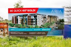Aria Swanbourne Apartments : Land Release Billboard Real Estate Jobs, Real Estate School, Real Estate Memes, Real Estate Signs, Real Estate Flyers, Selling Real Estate, Real Estate Houses, Commercial Real Estate, Real Estate Companies