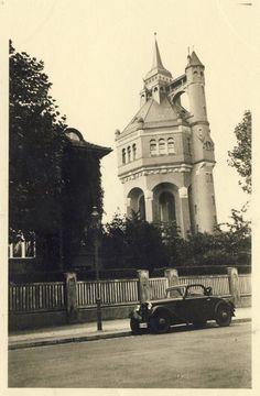 Wrocław - Wieża ciśnień Borek, widok z ul. Sudeckiej (1938)