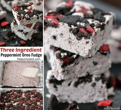 3 Ingredient Peppermint Oreo Fudge