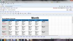 Social Media Content Calendar Template Excel Business Pinterest - Public relations calendar template