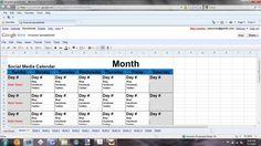 Social Media Content Calendar Template Excel Business Pinterest - Public relations calendar template