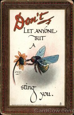 ~Don't Let Anyone But A Bee Sting You~