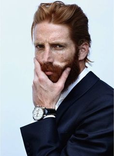 . Beards rock the socks. And make me melt