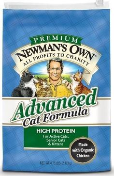 Newman's Own Organics Advanced Cat Chicken and Rice Dry Cat Food
