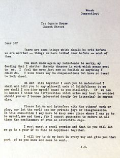 Amelia Earhart's Prenup saying she doesn't really want to get married and asking for an open marriage. Yikesters!