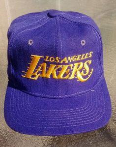 Vintage Los Angeles LA Lakers NBA SnapBack Wool Hat Cap The Pro #NBA…