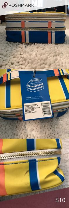 NWT Makeup/Travel Case Brand new and never been used. There is a small spot on the side that I assume was either there when I bought it or came about while it was in my bathroom cupboard. This is part of the reason for the low price even though it is NWT. Sonia Kashuk Bags Cosmetic Bags & Cases