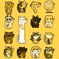 Maneki LOLneko - The Lucky Cat Project #GrumpyCat #NyanCat #ManekiNeko