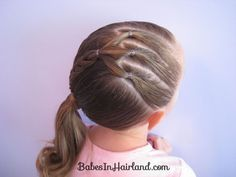 Ponytails and a Diagonal Braid - a great one for a day at the pool!