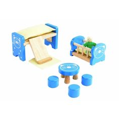 It is a kids room furniture set for the Basic Dollhouse. Kids could put them in the dollhouse in the way they like, which helps them know better about family life and improves their ability of space-thinking.
