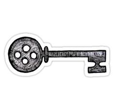 'Coraline Key' Sticker by Calypso-Skys Coraline Key Sticker<br> A button key to open doors that shouldn't be there… Coraline Tattoo, Coraline Drawing, Key Tattoo Designs, Tattoo Designs For Women, Tattoos For Women Small, Tattoos For Guys, Compass Tattoo, Tattoo Key, Tatoo