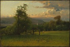 The Church Spire  George Inness, 1875  Oil on canvas