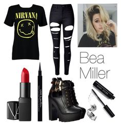 """""""Bea Miller Inspired Outfit"""" by swiftielover89 on Polyvore featuring Boohoo, WithChic, Bobbi Brown Cosmetics, NARS Cosmetics and Givenchy"""