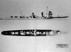 IJN Destroyer Hatsuharu class 1938