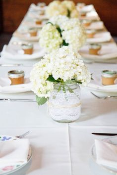 Aisle:  small mason jars with lace and this satin ribbon could be used for the aisle instead of plain jars hung with the wider satin ribbon.