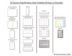 make a foldable with 8 flaps / windows