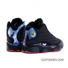 best website 1a48f 3d580 Best Air Jordan 13 Custom Batman Superman Dawn Of Justice Black Red