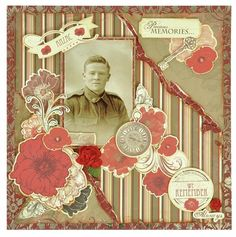 Kaisercraft 'Remember Me' Collection. Learn more at kaisercraft.com.au - Wendy Schultz - Scrapbook Layouts.