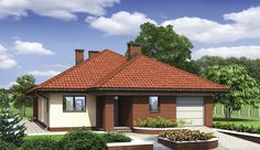 Projekt domu parterowego Murator M132 Wariantowy o pow. 128,2 m2 z garażem 1-st., z dachem kopertowym, z tarasem, sprawdź! House Layout Plans, House Layouts, Hut House, House Construction Plan, Sims House Design, Simple House Plans, Model House Plan, Dream Rooms, Home Fashion
