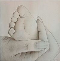 22 Ideas For Baby Drawing Sketches Mom Baby Drawing, Painting & Drawing, Crayon Painting, Drawing Hands, Drawing Drawing, Pencil Art Drawings, Cute Drawings, Pencil Sketching, Hand Pencil Drawing