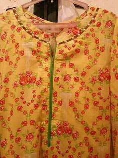 Kurti Sleeves Design, Sleeves Designs For Dresses, Neck Designs For Suits, Kurta Neck Design, Neckline Designs, Dress Neck Designs, Sleeve Designs, Blouse Designs, Stylish Dress Designs