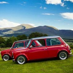 Classic Mini, Classic Cars, Red Mini Cooper, Mini Morris, Cooper Car, Mini Copper, John Cooper Works, Engine Swap, Morris Minor