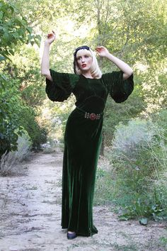 GRAND OPENING  Vintage 1930s Silk Velvet by LacyDressesVintage, $790.00