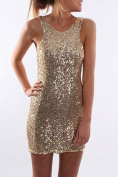 Night Life Dress Gold--  my Homecoming dress :)