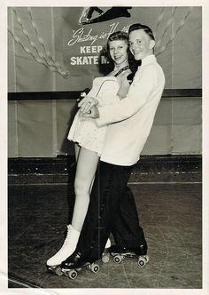 "Vintage Roller Skate Couple | ""Skating is Healthy"" | Flickr - Photo Sharing!"
