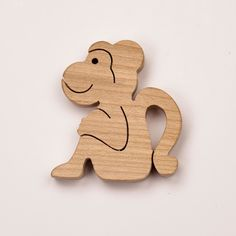 Wooden toy monkey | Wooden animal toys | Diotoys.com