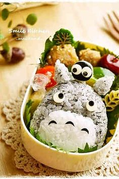 Cute Totoro Bento - by Smile kitchen!