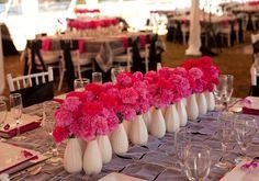 pink carnation centerpieces designed by Courtenay Lambert Florals of Cincinnati
