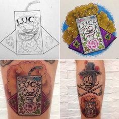 """""""새해복 많이 받으세요 #korea #Traditional #LuckyWallet #손글씨릴레이 #teotattoo #koreatattoo #koreatattoostyle #inked #ink #thebesttattooartists #tattoo #tattoos…"""""""