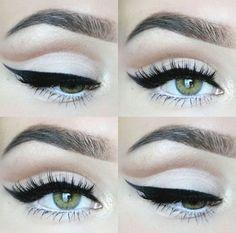 Ideas Makeup Eyeshadow Cut Crease Winged Liner Ideen Make-up Lidschatten Cut Crease Wi Cut Crease Hooded Eyes, Cut Crease Eyeshadow, Cut Crease Makeup, Blue Eyeshadow, Makeup Eyeshadow, Eyeshadow Palette, Eyeshadows, Eyeshadow Pans, Natural Eyeshadow