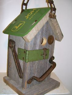 John Deere Birdhouse Handcrafted by Birdhousesandbuds on Etsy, $69.00