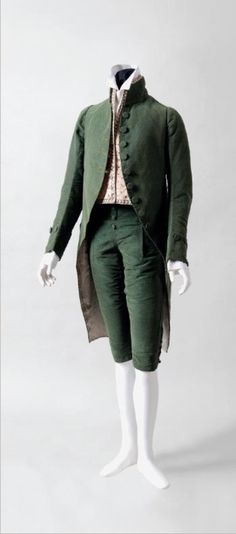 Formal suit, 1790's France (probably), Cora Ginsburg